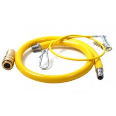 1/2 Inch Yellow Commercial Gas Hose 1000mm