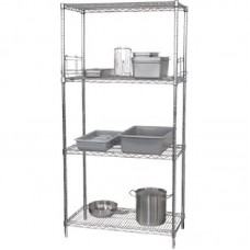 4 Tier Wire Shelving Kit 1220x460mm