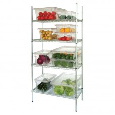 4 Tier Wire Shelving Kit 1830x460mm