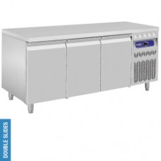 DT178/PM - Ventilated refrigerated table, 3 doors GN 1/1
