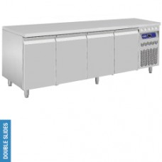DT224/PM - Ventilated refrigerated table, 4 doors GN 1/1